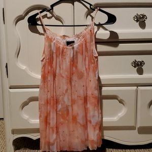 Worthington floral pleated tank blouse